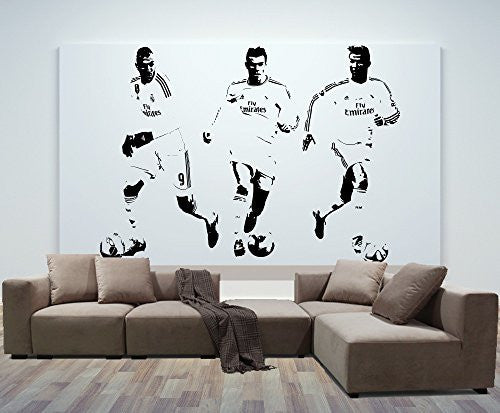 Cristiano Ronaldo Bale Benzema Wall Decal Sticker