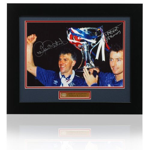 "Graham Roberts & Trevor Francis dual hand signed 12 x 8"" Rangers photograph (PP385)"