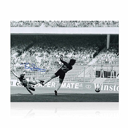 Bryan Robson Signed England Photo: Fastest World Cup Goal. In Gift Box