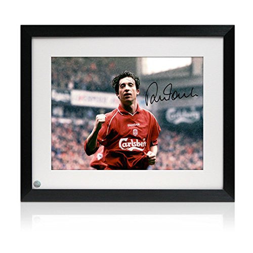 Signed And Framed Robbie Fowler Liverpool Photo: Goal Against Manchester United