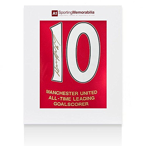 Wayne Rooney Signed Manchester United Shirt Special Edition All Time Leading