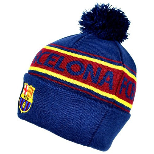 FC Barcelona Cuffed Knitted Hat