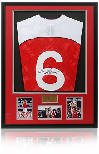 Tony Adams Hand Signed Framed Arsenal Shirt