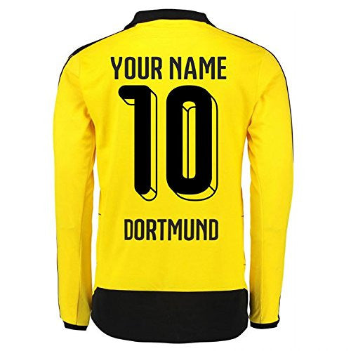 2015-16 Dortmund Home Long Sleeve Shirt (Your Name)
