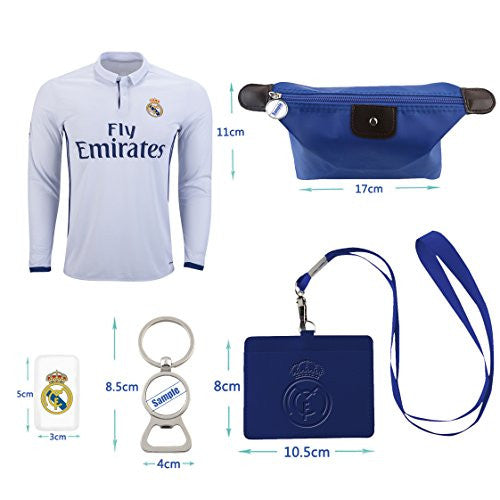 #9 Di Stefano Real Madrid C.F. Home Long Sleeve Soccer Jersey Combo 2016-17