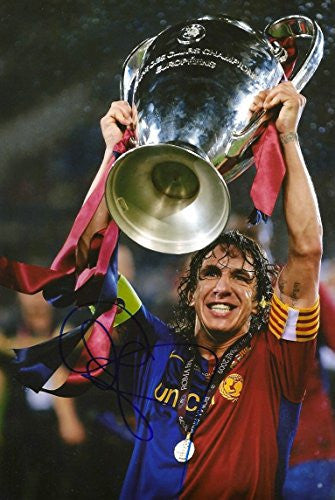 Carles Puyol autograph, In-Person signed photo