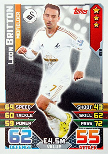MATCH ATTAX 2015/2016 > SWANSEA CITY LEON BRITTON > Number 283