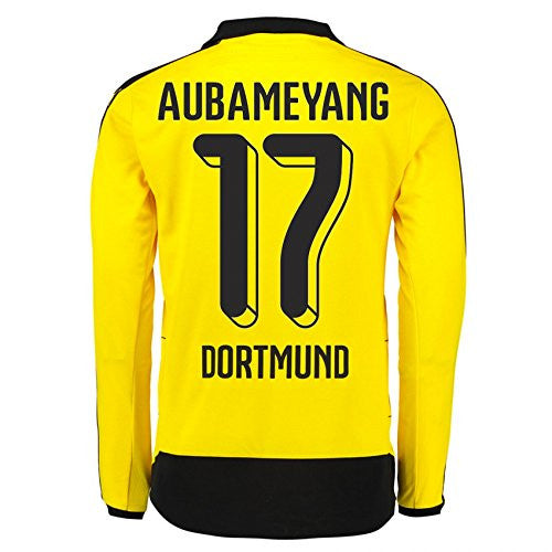 2015-16 Dortmund Home Long Sleeve Shirt (Aubamyeng 17)