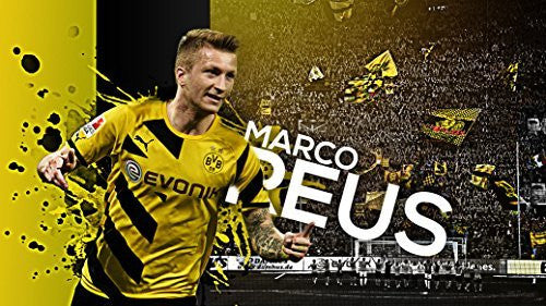 "Marco Reus Fabric Cloth Rolled Wall Poster Print - Size: (43"" x 24"" / 24"" x 13"")"