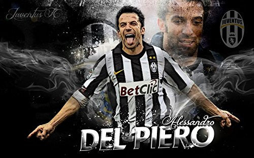 Del Piero 22x14 inch Silk Poster Wall Decor