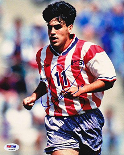 Claudio Reyna SIGNED 8x10 Photo *VERY RARE* AUTOGRAPHED - PSA/DNA Certified - Autographed Olympic Photos