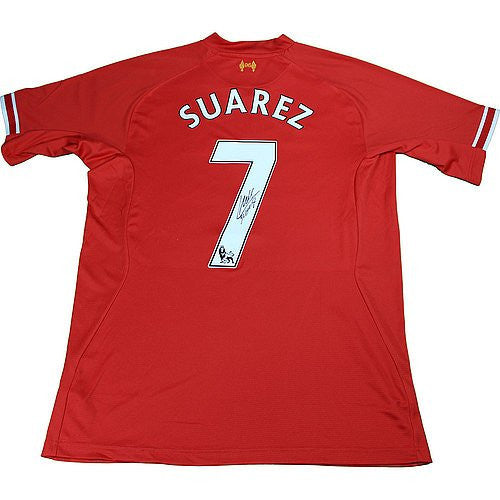 Luis Suarez Signed Liverpool Red Jersey Icons Authentication