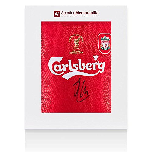 Xabi Alonso Signed Liverpool Shirt Champions League Final - Gift Box - Autographed Soccer Jerseys