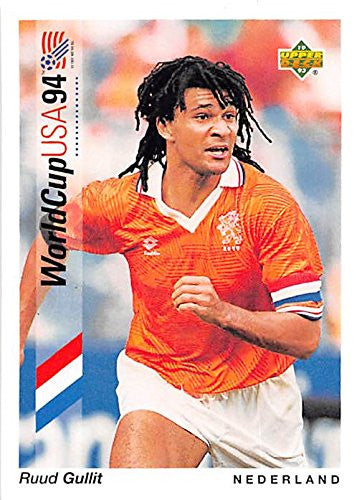Ruud Gullit trading card (Soccer Football Denmark) 1993 Upper Deck World Cup #81