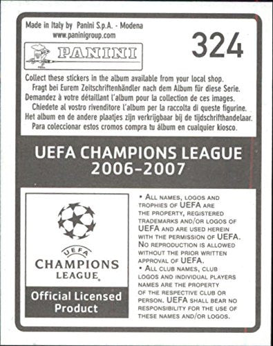 2006-07 Panini UEFA Champions League Stickers #324 Rivaldo - NM-MT