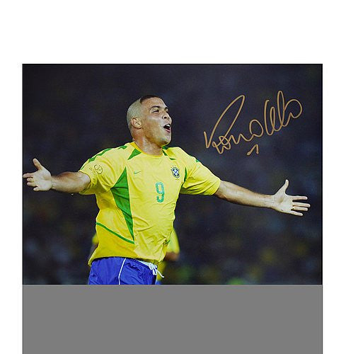 Ronaldo Autographed Brazil 16x12 Photo: World Cup Final Goal - ICONS Authentic Signed Autograph