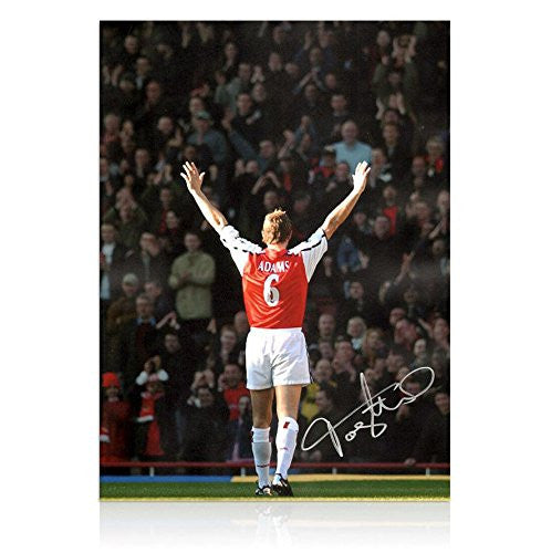 Tony Adams Signed Arsenal Photo - Highbury Legend- Autographed