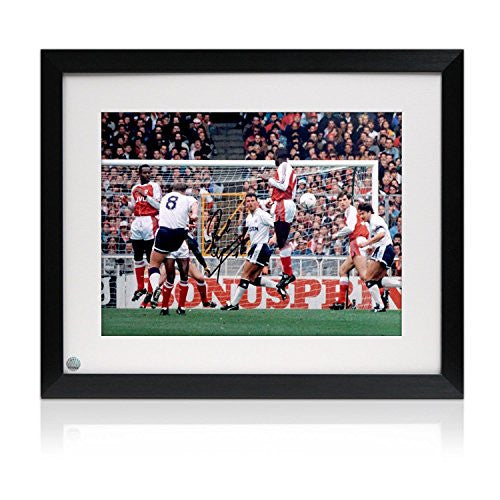 Signed And Framed Paul Gascoigne Spurs Soccer Photograph: Arsenal Free-Kick