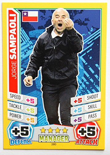 MATCH ATTAX England 2014 > JORGE SAMPAOLI > Number 280