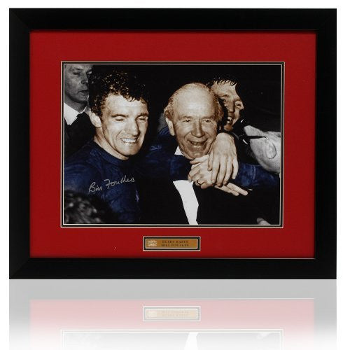Bill Foulkes hand signed Manchester United 1968 Matt Busby photograph