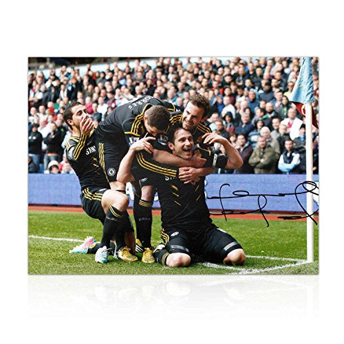 Frank Lampard Signed Chelsea Football Photo: The 203rd Goal. In Gift Box