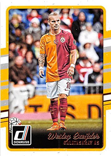 Wesley Sneijder Galatasaray trading card 2016 Donruss #99