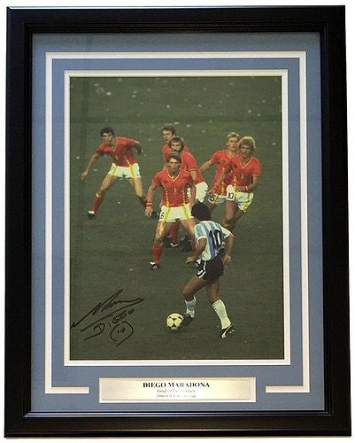 Diego Maradona Autographed Framed Photo - Certified Authentic Autograph