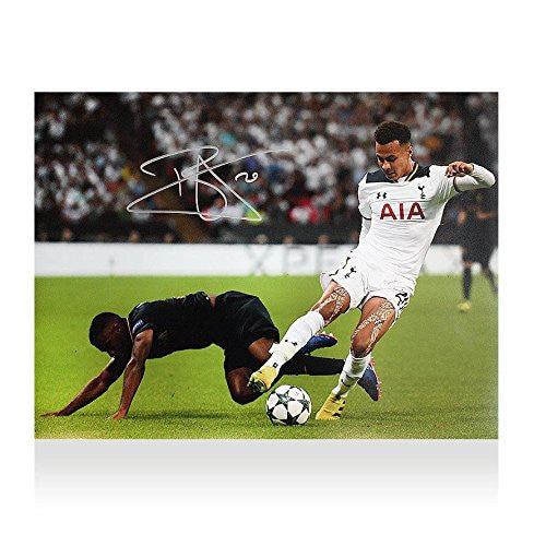 Dele Alli Signed Autograph Tottenham Hotspur Photo - Champions League
