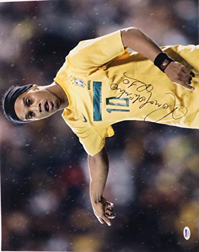 Ronaldinho Signed Authentic Autographed 16x20 Photo PSA/DNA