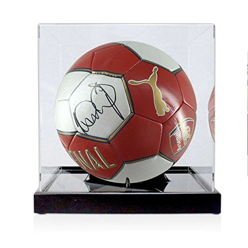 Ian Wright Signed Arsenal Ball In Display Case