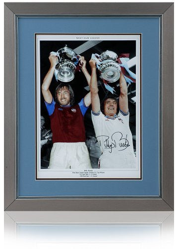 "Billy Bonds 16x12"" hand signed West Ham United FA Cup montage"