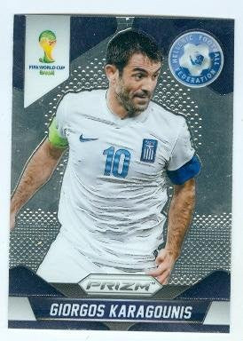 Giorgos Karagounis trading card 2014 World Cup Prizm Chrome #101
