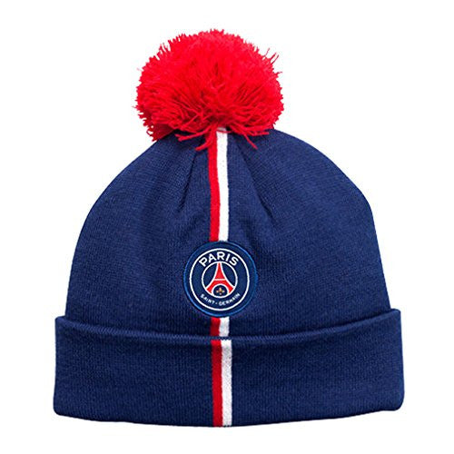 PSG - Paris Saint-Germain Winter Hat with Pompom