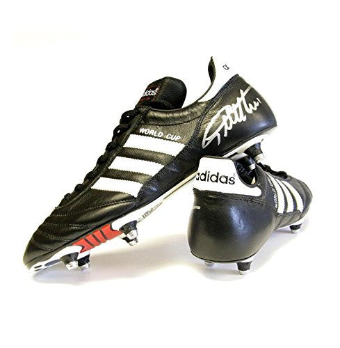 Sir Geoff Hurst signed football Adidas boot - World Cup Autograph - Autographed Soccer Cleats