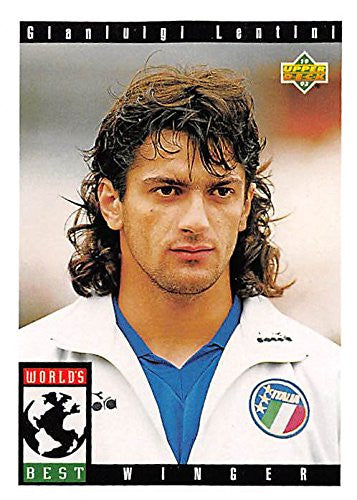 Gianluigi Lentini trading card (Soccer Football Italy) 1993 Upper Deck World Cup #114