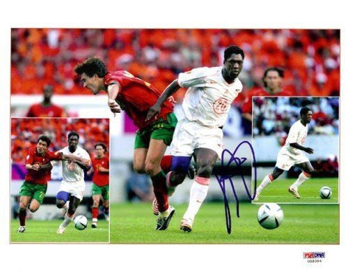 Clarence Seedorf Signed 8x10 Photograph AC Milan - PSA/DNA Authentication - Sports Memorabilia
