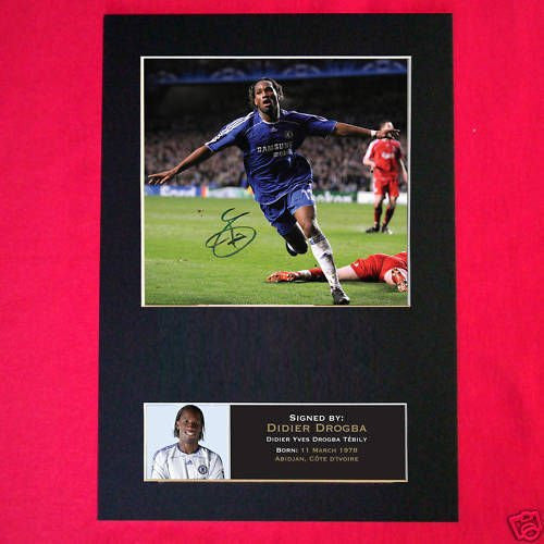 DIDIER DROGBA (CHELSEA) Mounted Photo (PRINT)