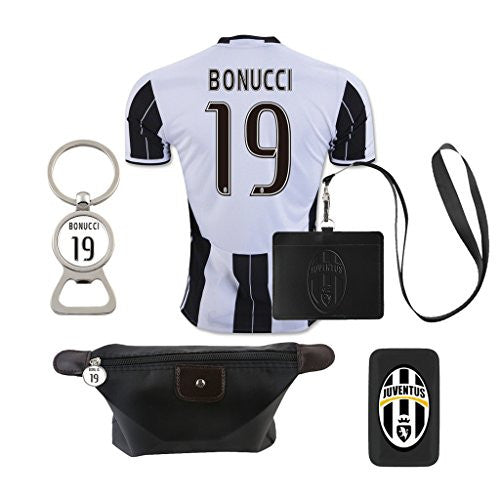 #19 Bonucci (6 in 1 Combo) Juventus F.C. Home Match Adult Soccer Jersey 2016-2017