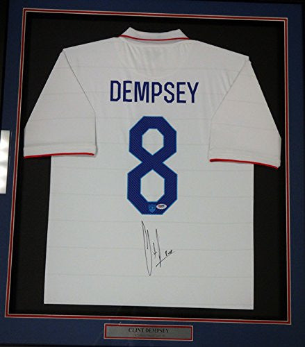 "Clint Dempsey Autographed Framed White Nike Jersey Team USA ""USA"" PSA/DNA ITP"