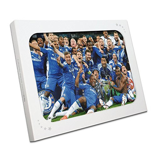 Frank Lampard Signed Chelsea Football Photo: The Winning Team. In Gift Box