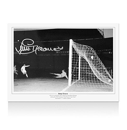 Jimmy Greaves signed print - 1963 Cup Winners' Cup final Autograph