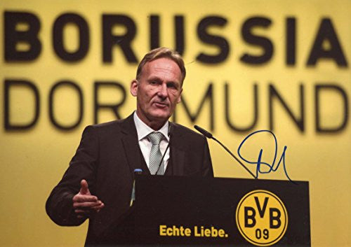 Hans-Joachim Watzke BVB autograph, IP signed photo