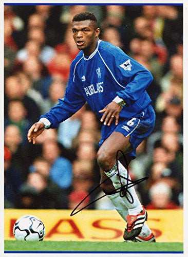 Marcel Desailly autograph, In-Person signed photo