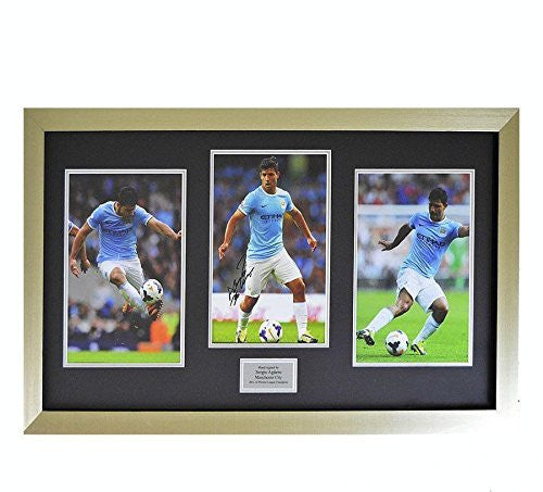Signed Sergio Aguero Photo - Kun Man Framed Montage