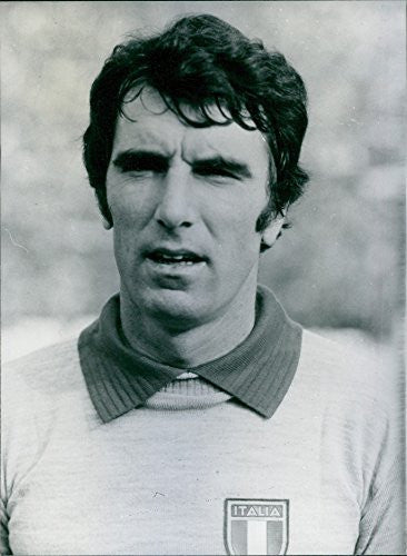 Vintage photo of Portrait of Dino Zoff, 1978.