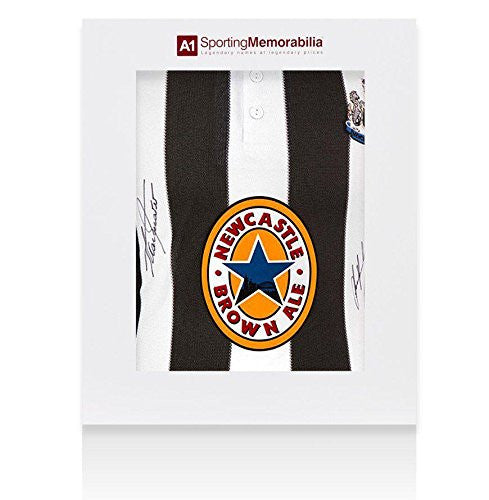 Alan Shearer & Les Ferdinand Signed Newcastle Shirt - Gift Box