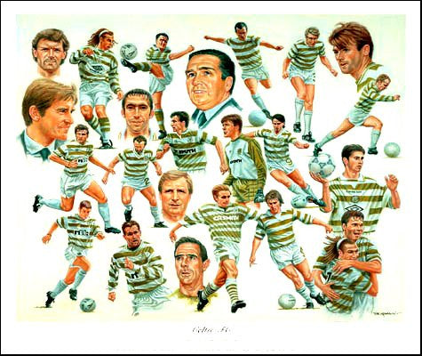 Celtic FC - Limited Edition Print By Peter Deighan