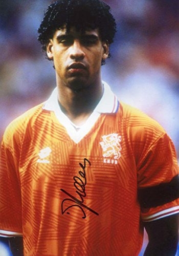Frank Rijkaard Autographed, In-Person signed photo