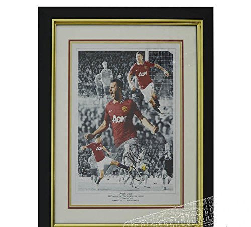 Ryan Giggs Signed Photo - Man Utd Framed Print - Autographed Soccer Photos