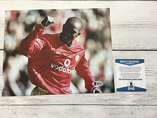 Dwight Yorke Signed Manchester United COA Autographed